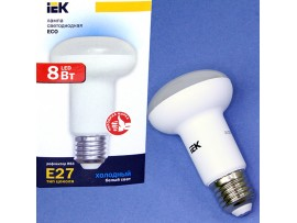 Лампа 230V 8W E27 4000 св/д IEK R63