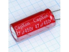 Конд.47/450V 1636 +105°C  CapXon