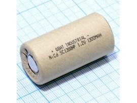 Аккумулятор 1,2V/1300 (d=23;L=43) NiCd D-SC1300HP