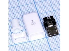 Micro USB 5pin 5PBW штекер на кабель