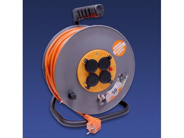 Удлинитель силовой на катушке 16 А ПВС 3х1.5 4 влагозащ