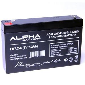 Аккумулятор 6V/7,2 Ah FB7.2-6 150х35х95 ALPHA