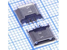 Micro USB 5pin B-5FS гнездо на плату, вертикальное
