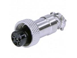 XS12JK-6P(гайка) F розетка 6PIN на кабель