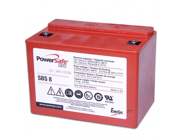 Аккумулятор 12V/7Ah EnerSys PowerSafe SBS 8
