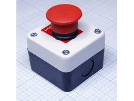 GB2-B164H29 (N/C) кнопка грибок красная в корпусе