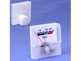 91L16 (0-300V) AC вольтметр 40x40