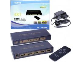 HDMI переключатель 4x1 с ПДУ