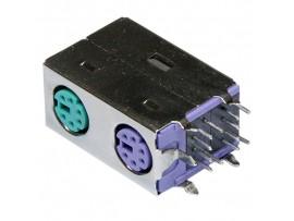 MDN-2х6SFR розетка на плату двойная, экранированная
