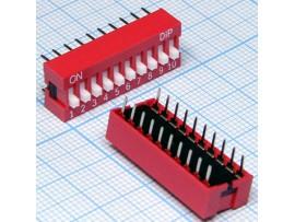 NDS-10-V переключатель DIP (SWD-10LN)
