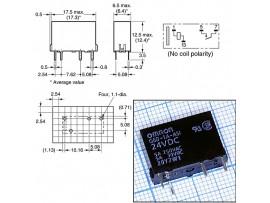 G6D1AASI24DC реле 24VDC 5A/250VAC
