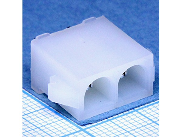 MFT-1x2S вилка на плату Mini-Fit, шаг 6,35 мм