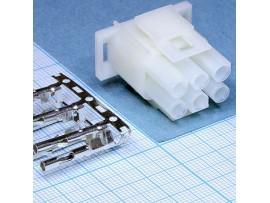 MFT-2x3F розетка на кабель Mini-Fit, шаг 6,35 мм