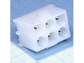 MFT-2x3S вилка на плату Mini-Fit, шаг 6,35 мм