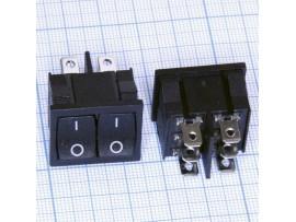 KCD2 250V/6A on-on 2-клавишный переключатель