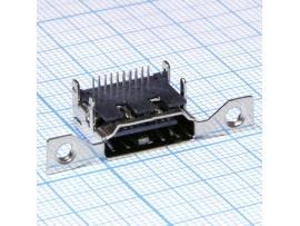 HDMI-F19 (тип 6) гнездо на плату