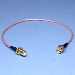 SMA-J3/SMA-KY3-RG316-30 перех. (шт SMAвн.рез=гн SMAнар)