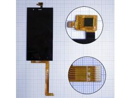 Highscreen Boost 3 дисплей в сборе с тачскрином, черный