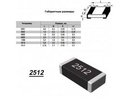Чип рез.J2512-1,5 кОм 5%