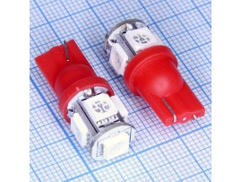 T10 5smd 5050 red LED лампа