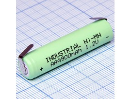 Аккумулятор 1,2V/900 R03 с лент. выводами
