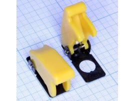R17-10B защита для тумблера желтая