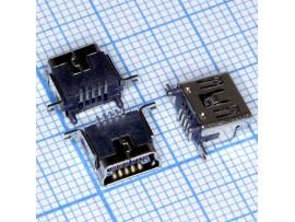 Mini USB 5 pin 5FS1 Гн. на плату вертикальное