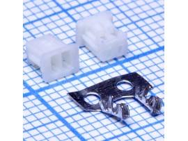 A125-02F розетка на провод, шаг 1,25