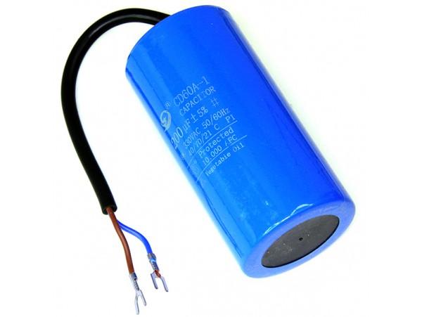Конд.200/300V 3480 50Гц клеммы/без винта