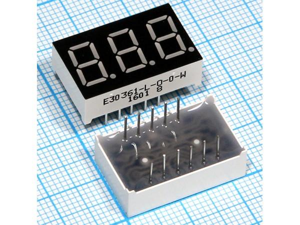 E30361-L-0-0-W инд. 3DIG красный Общий катод