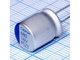 Конд.680/16V 10х12,5  PS 105°C