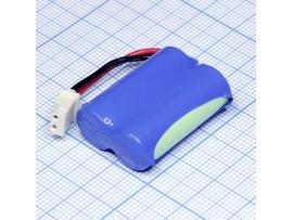 Аккумулятор 2,4V/400 (2*d=10;L=29) Ni-Mh