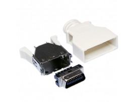 MCR-20 M вилка 20к.на кабель MICRO CENTRONICS