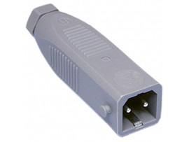 STAS-20 разъем штекер, кабель PIN2 луженые, IP54, 16А