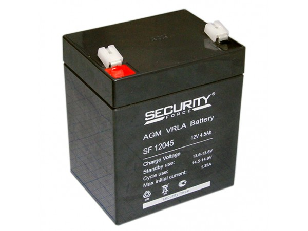 Аккумулятор 12V/4,5Ah SF12045 90х73х102 Security