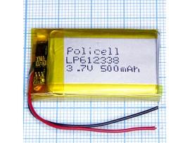 LP612338-PCM Аккумулятор 3.7V 500mAh  Li-POL
