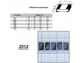 Чип рез.F2512-0,033 Ом 1%