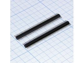 PLL-40 вилка штыревая на плату 40к, шаг 1,27мм