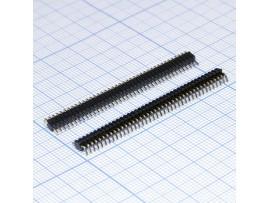 PLL-40R вилка штыревая на плату 40к, угловая,шаг 1,27мм