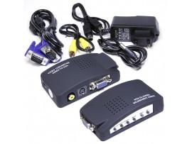 Конвертер RCA-Video, S-Video, VGA => VGA