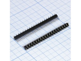 PLL-40S вилка штыревая на плату 40к, шаг 1,27мм