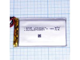 LP604374-PCM-LD Аккумулятор 3.7V 2200mAh  Li-POL
