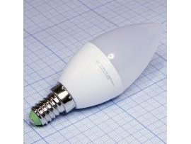 Лампа 220V 7,5W E14 4000 св/д холодный свеча