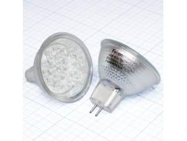 Лампа LED220V/2W G5,3 JCDR красная, со стеклом