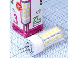 Лампа 12V/3W G4 6500 св/д