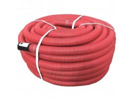 Труба гибкая двустенная 75мм DKC с протяжкой, красная