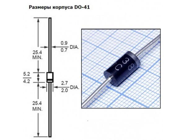 SF38 быстрый диод (3А,600В)