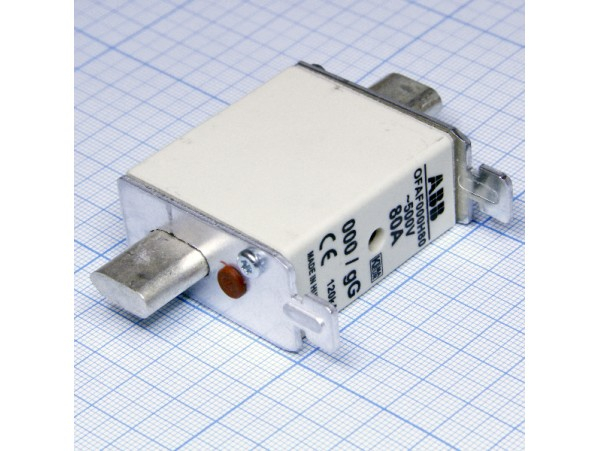 F000H80 вставка плавкая 80А, размер 000, тип gG, 500В A