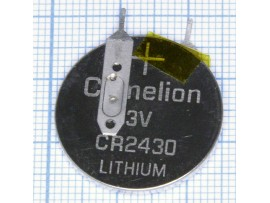 CR2430 Батарея 3V с выводами 2pin верт.