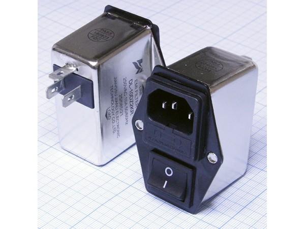 DL-10DZ2KR фильтр питания 250V/10A сетевой